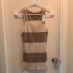 Old Navy Striped Ribbed Tank